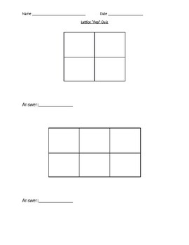 Blank Multiplication Lattice Quiz Template