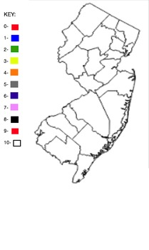 Blank NJ Counties Map