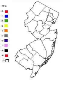 Blank NJ Counties Map