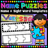 Blank Puzzle Templates for Names Sight Words And Pictures