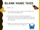 Blank Name Tags: Back to School Printables