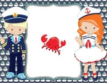 Editable Nautical Posters