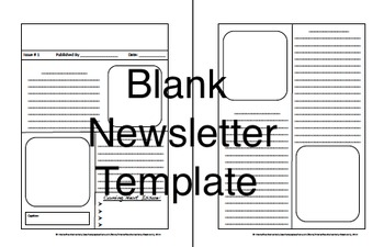 Blank Newsletter Project & Back to School Summer Newsletter (All grades!)