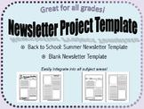 Blank Newsletter Project & Back to School Summer Newslette