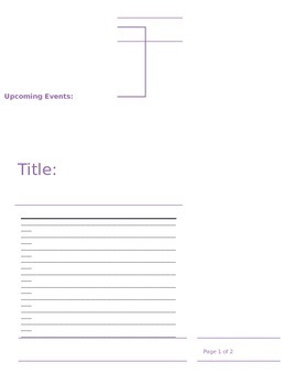 blank newsletter template teaching resources teachers pay teachers