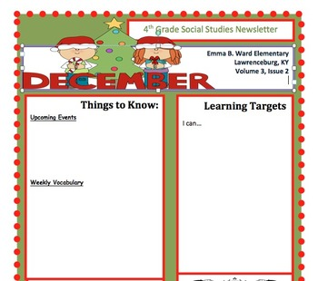 Blank newsletter template december by crystal darnell tpt blank newsletter template december maxwellsz