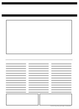 Blank Newspaper Article Template