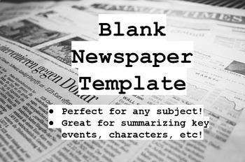 Blank Newspaper Assignment