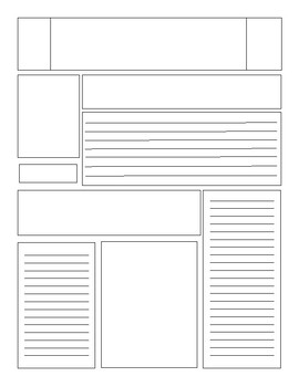 Blank Newspaper Template Teaching Resources