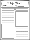 Blank Newspaper Template for Multi  Uses