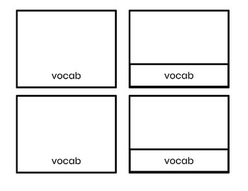 Blank Nomenclature Cards