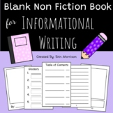 Blank Non-Fiction Book for Writer's Workshop