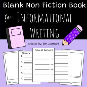 Blank Table Of Contents Template Non Fiction Book For Writers Workshop By Erin Morrison Tpt