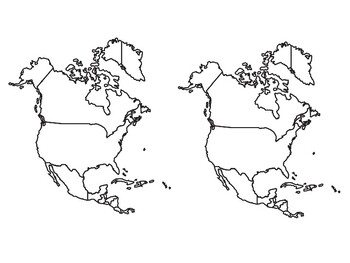 Blank North America Map