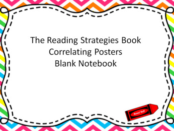 Blank Notebook for Correlating Posters for Reading Strategies Book