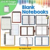 Blank Notebooks Clip Art
