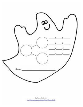 Common Core Blank Number Bond - Halloween theme
