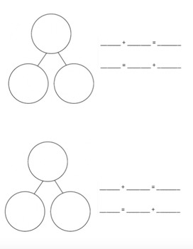 Blank Number Bond & Number Sentence Booklet