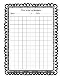 Blank Number Chart Assessment