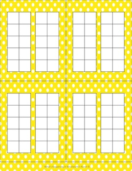 Blank Number Frames in Yellow Polka Dots