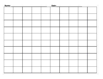 Blank Number Grid