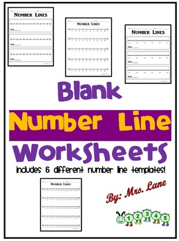 blank number line teaching resources teachers pay teachers