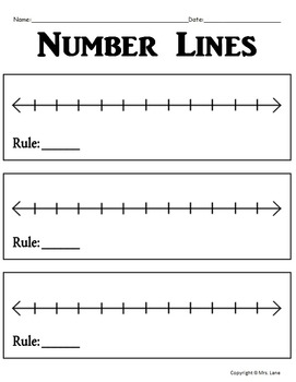 Blank Number Line Worksheets (Includes 5 Different Number Line Templates!)