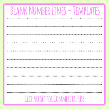 photo about Blank Number Line Printable named Blank Variety Line Worksheets Schooling Elements TpT