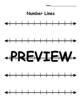 Blank Number Lines