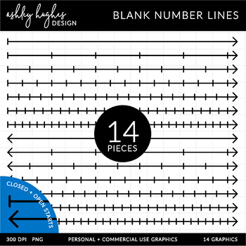 Blank Number Lines Clipart {A Hughes Design}