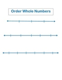 Blank Number Lines for Ordering Whole Numbers