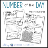 Blank Number of the Day MATH Templates