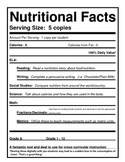 Blank Nutrition Labels