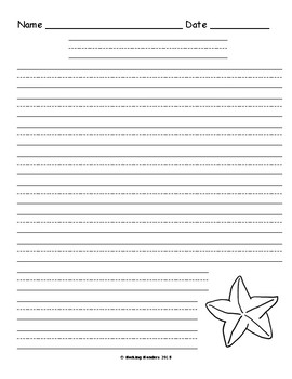 Blank Ocean Writing Pages for Primary Grades