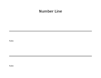 Blank Open Number Line