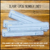 Blank (Open) Number Lines