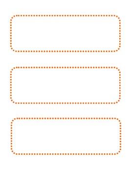 Blank Orange Dot Cards