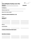 Orton-Gillingham Lesson Template (Word doc)