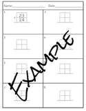 Blank Outline for basic addition/subtraction