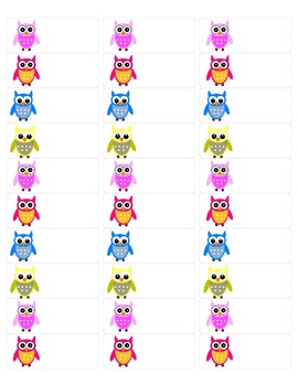 Blank Owl Labels