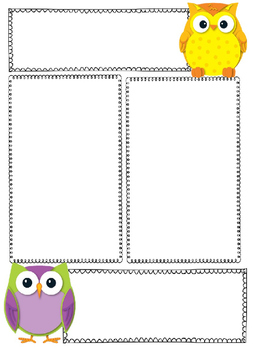 Blank Owl Newsletter Template