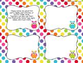 Blank Owl Task Cards