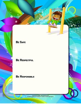 Blank PBIS Expectation Posters - 8.5x11