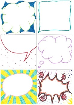 Blank POP ART style speech bubbles