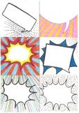 Blank POP ART style speech bubbles