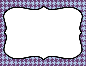 Blank Page or Poster Templates (11x8.5) - Amethyst