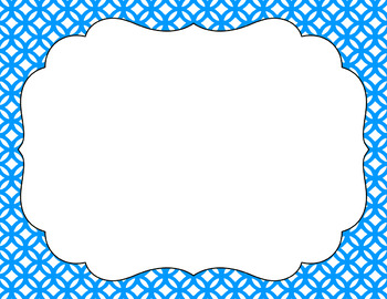 Blank Poster Templates (11x8.5) Essentials & White: Abstract Circles