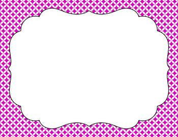 Blank Page or Poster Templates (11x8.5) - Basics: Circle Diamonds & White