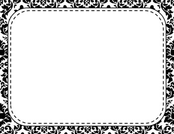 Blank Page or Poster Templates (11x8.5) - Basics: Damask & White