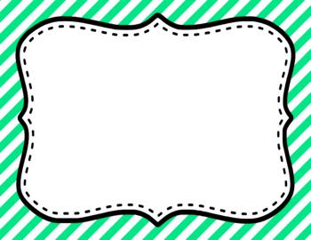 Blank Page or Poster Templates (11x8.5) - Basics: Diagonal Stripes & White